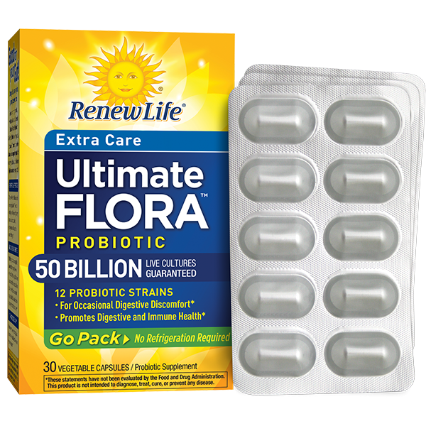 ULTIMATE FLORA EXTRA CARE PROBIOTIC GO PACK 50 BILLION - Terramed.info