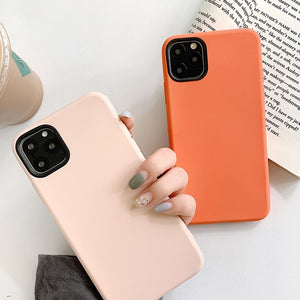 Solid Color Protective iPhone Case