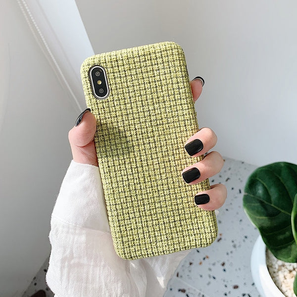Grid Fabric iPhone Case