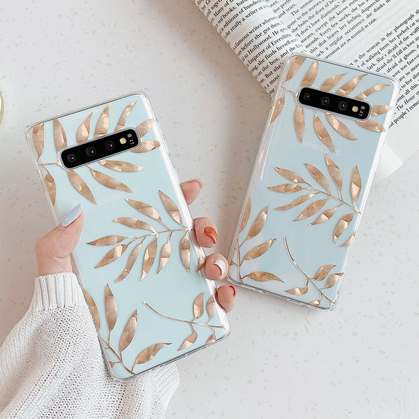 Rose Gold Leaves Samsung Case