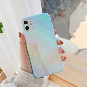Glossy Gradient Holographic iPhone Case