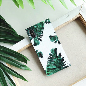 Cactus & Leaves Rectangular iPhone Case