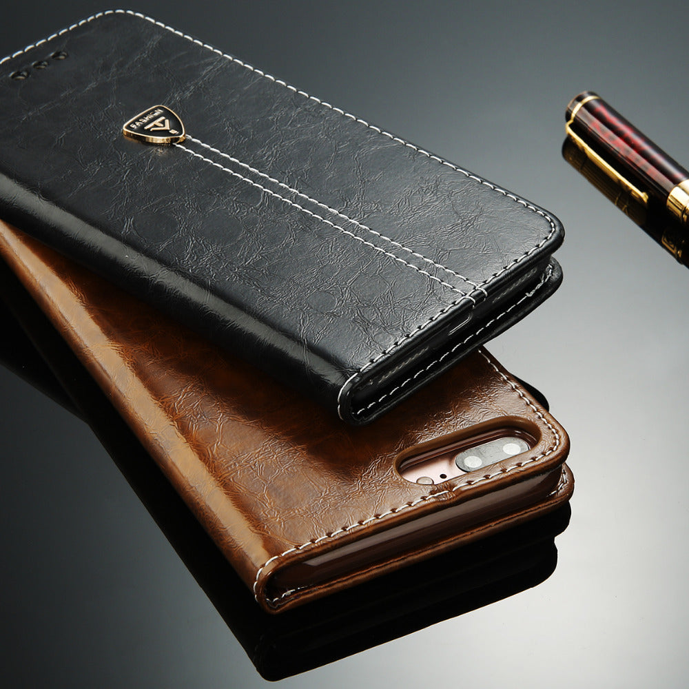 Flip Leather Wallet Case - Cases - CASEALY