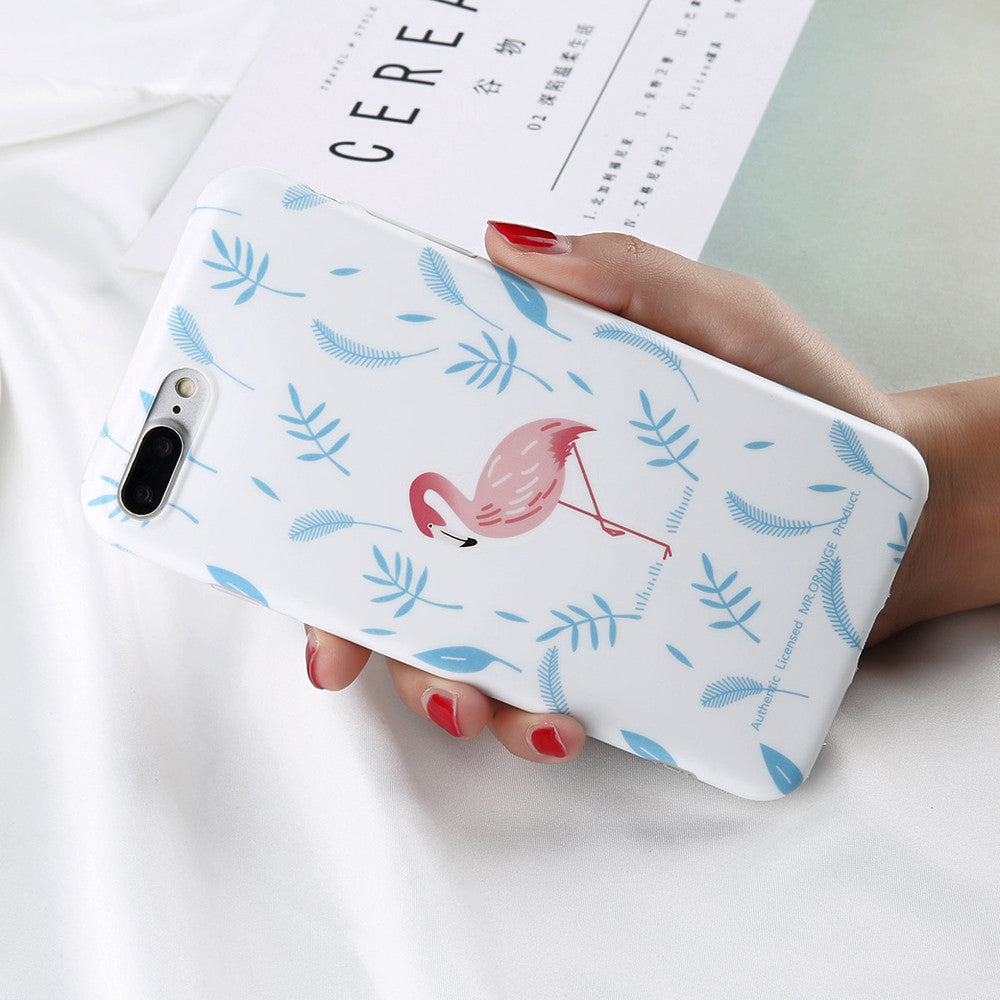 Cartoon Flamingo Light Blue - Cases - CASEALY