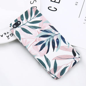 Green Leaf Painted Pattern - Cases - CASEALY