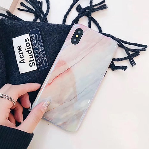 Glossy Soft Marble iPhone Case
