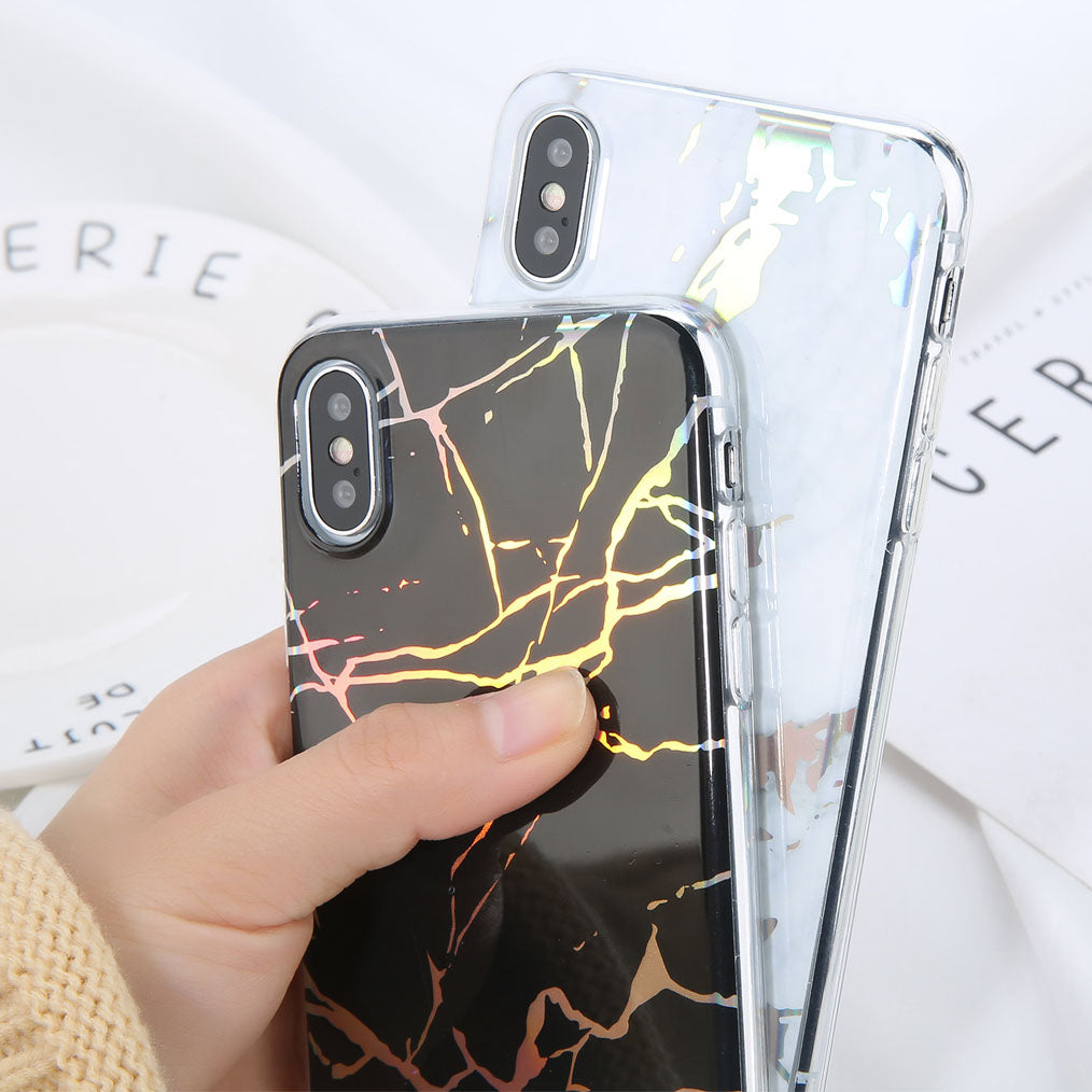 Luxury Holographic Glossy Marble Case - Cases - CASEALY