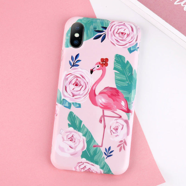 Multicolor Cartoon Flamingo - Cases - CASEALY