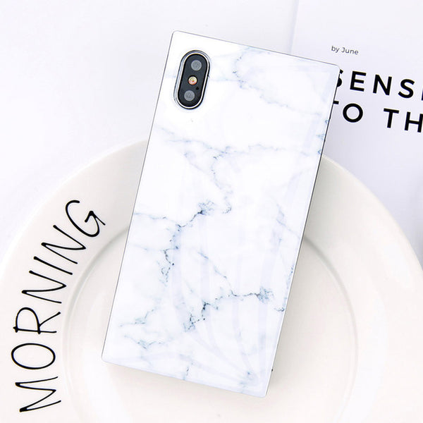 Glossy Marble Rectangular iPhone Case