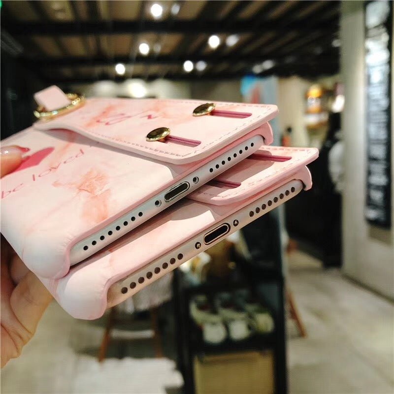 Soft Marble Hand Strap Holder & Stand Phone Case - Cases - CASEALY