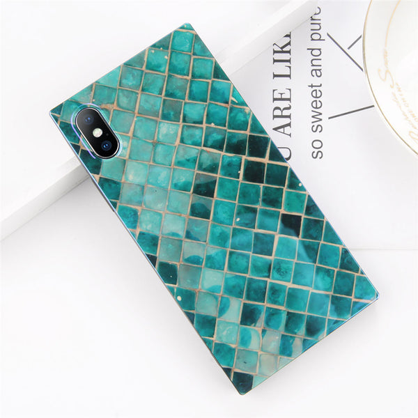 Mermaid Pattern Rectangular iPhone Case