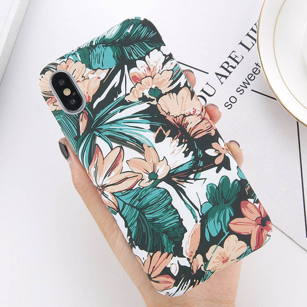 Floral Vibrant Leaves iPhone Case
