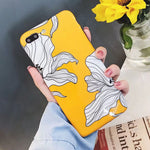 Glossy Yellow Flowers iPhone Case