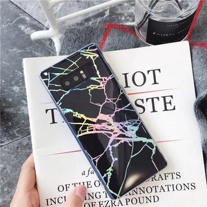 Glossy Laser Marble Samsung Case
