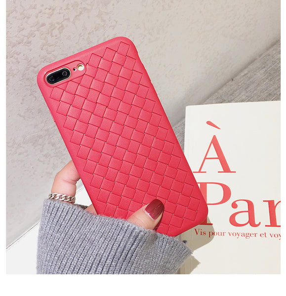 Textured Grid iPhone Case