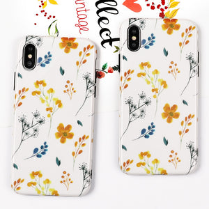 Flowers & Leaves iPhone Case