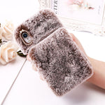 Cute Fluffy iPhone Case w/Hand Holder