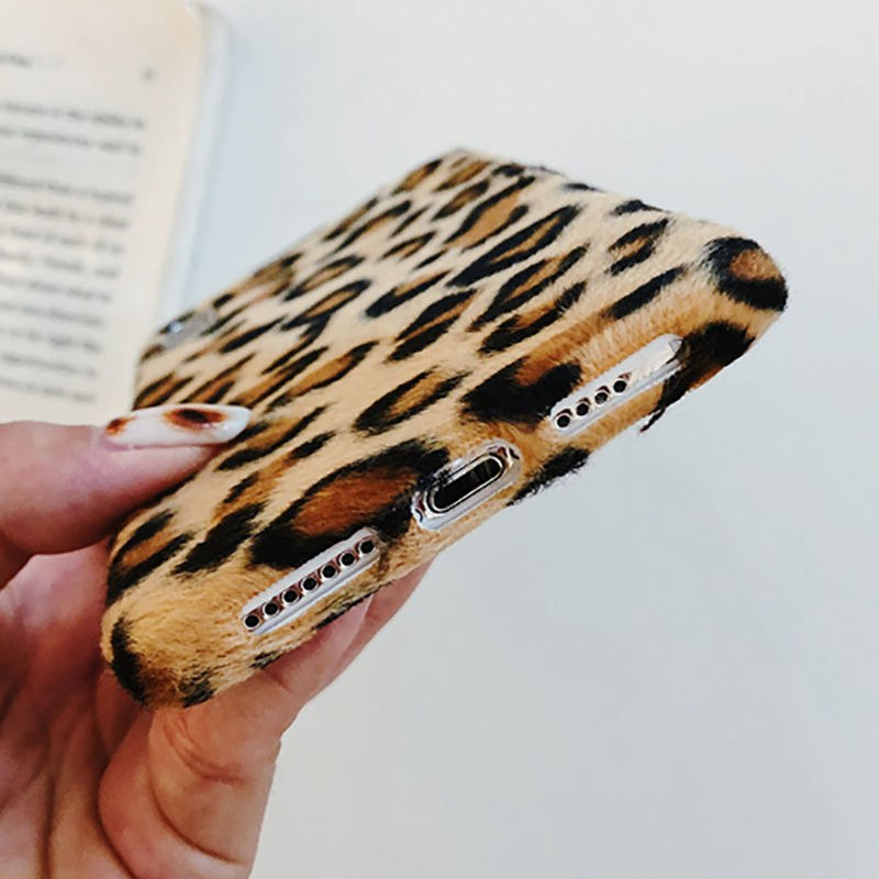 Leopard Furry iPhone Case
