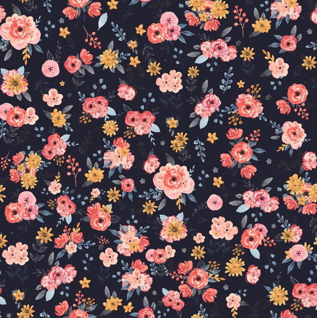 In Bloom - Navy Edition - WALL BLUSH