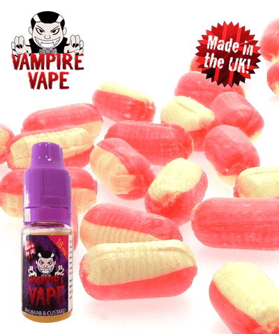 Rhubarb & Custard - 10ml Vampire Vape E-Liquid