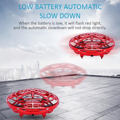 Mini Flying Quadcopter with flashing LED lights