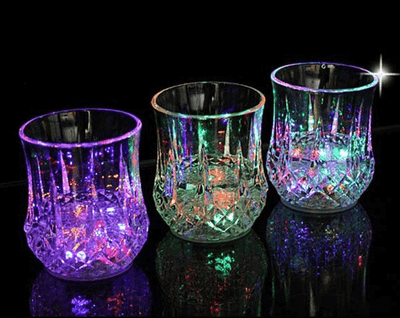 6 Pieces Liquid Activated Multicolor LED Glasses