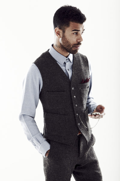Tweed Smokers Vest