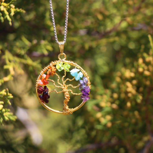 7 Chakra Tree Necklace