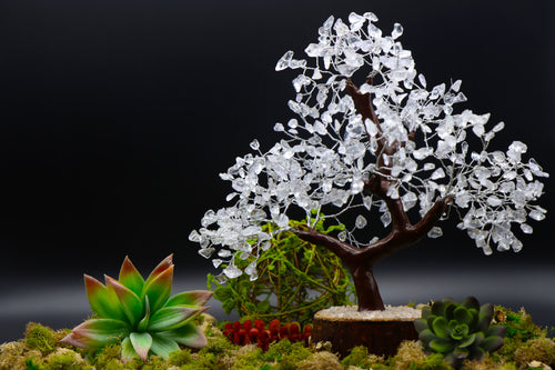 500 Piece Clear Quartz Crystal Tree