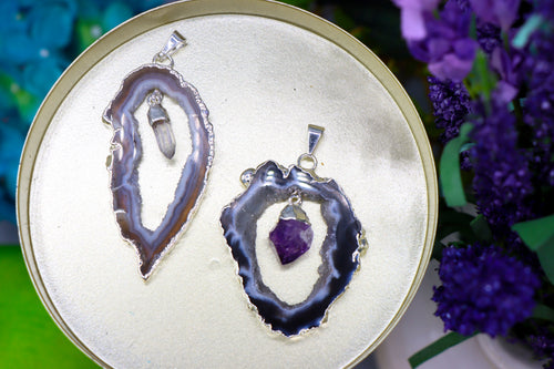 Crystal Geode Pendants