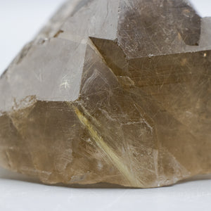 Rutilated Smoky Quartz Point with Golden Rutile