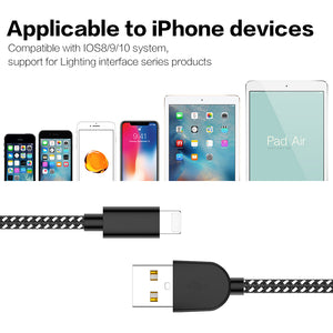 Phone Charger Cable - MFi Certified -【5Pack 3FT/3FT/6FT/6FT/10FT】 Extra Long Fast Charging& Syncing Cord Compatible with iPhone