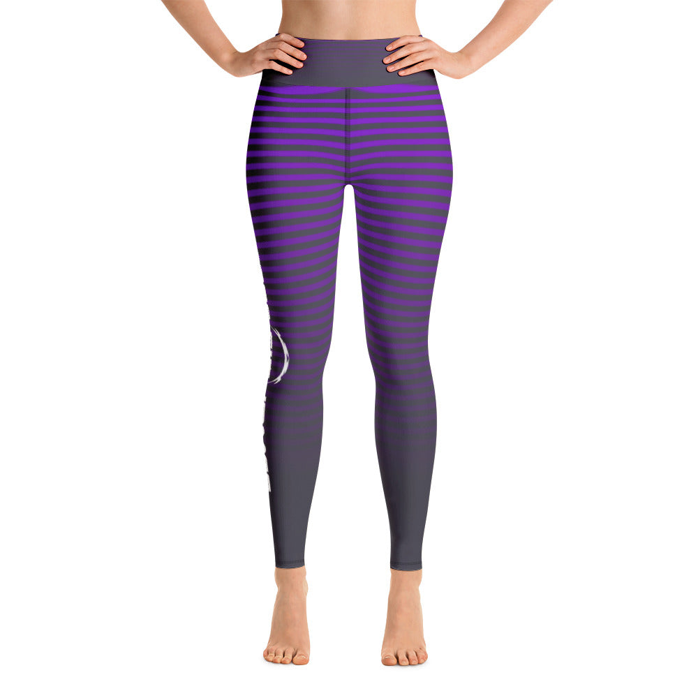 JJF purple stripe Leggings