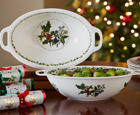 The Holly & the Ivy Oval Handled Bowl