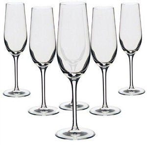 Dartington Crystal Six Champagne Flutes