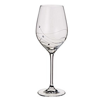 Dartington Crystal Glitz Red Wine Goblet Glass  ( Box Set of 2 )