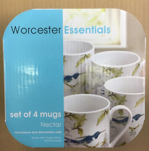 Royal Worcester Essentials ( Box Set of 4 Mugs ) Hummingbird - Nectar