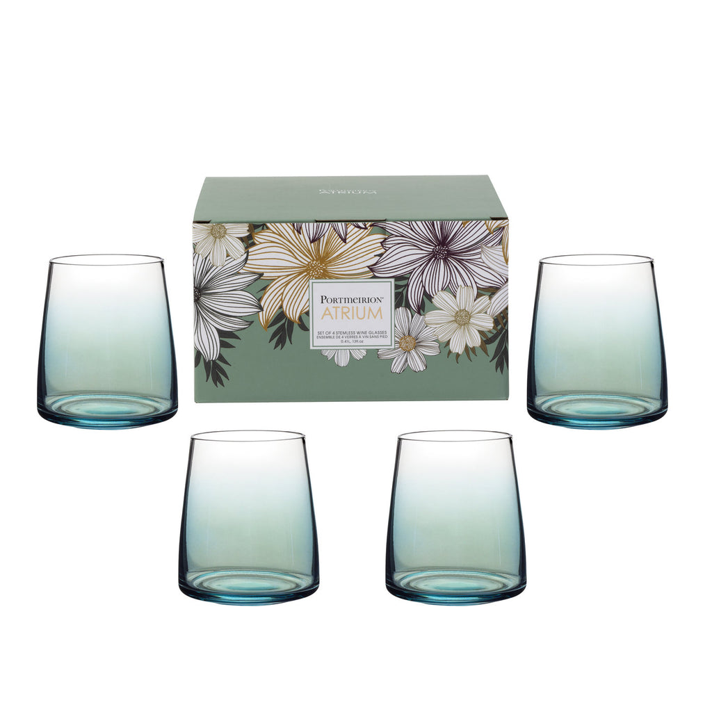 Atrium Stemless Wine Glass - Set of 4