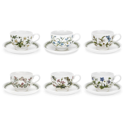 Botanic Garden Tea Cup & Saucer ( T ) Traditional Shape