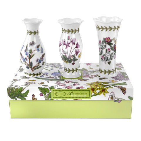 Botanic Garden Mini Vases  ( Gift Box set of 3 )