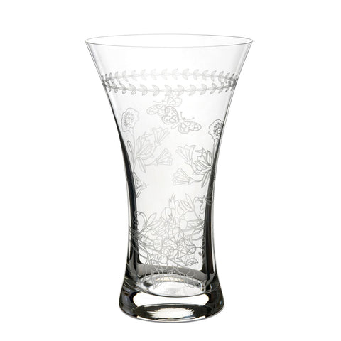 Botanic Garden Medium Etched Glass Vase  25cm / 10""