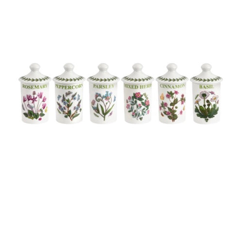 Botanic Garden Herb & Spice Jars  ( Box set of 6 )