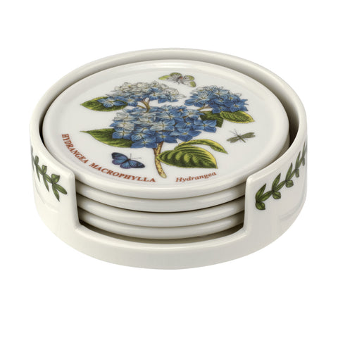 Botanic Garden Ceramic Coasters with Holder
