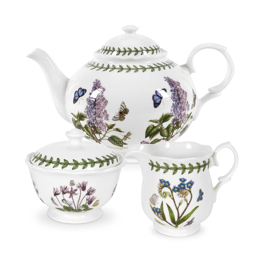 Botanic Garden 3 Piece Tea Service - Teapot, Cream & Sugar