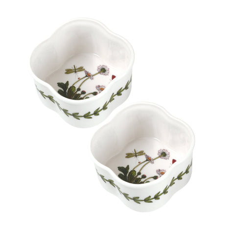 "Botanic Garden Scalloped Ramekin Dish  9cm / 3.5""  ( Box set of 2 )"