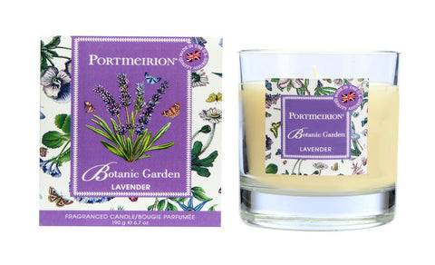 Botanic Garden Wax Filled Glass Candle - Lavender