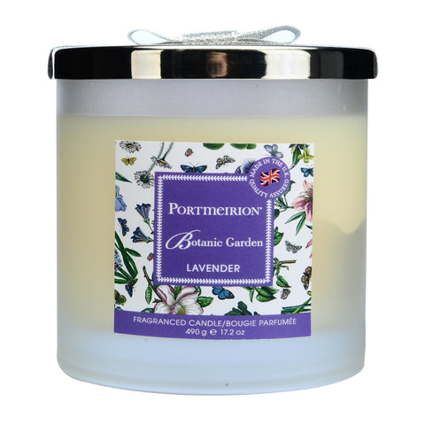 Botanic Garden 2 Wick Wax Filled Glass with Silver Lid - Lavender