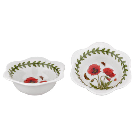 Botanic Garden Dip Bowl / Tealight Holder ( Box Set of 2 )  Poppy