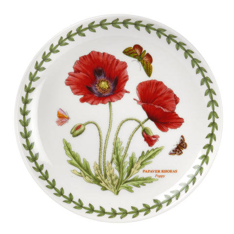 "Botanic Garden Tea Plate ( Coupe Shape ) 16.5cm / 6.5"" - Poppy"