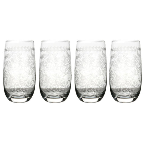 Botanic Garden Hi Ball Glass ( Box Set of 4 )